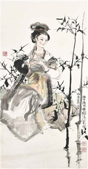 lady and bamboo by cheng shifa