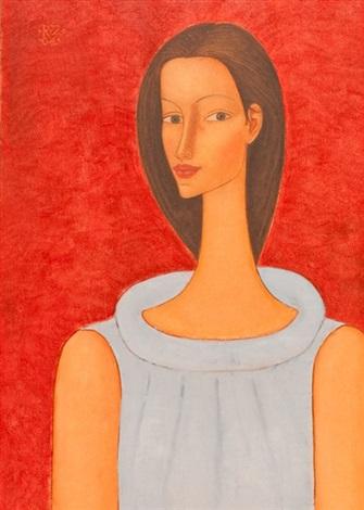 portrait of the artists muse by roman zakrzewski