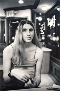 kiwi at a coffee shop, new york city (from the series the gender frontier) by mariette pathy allen