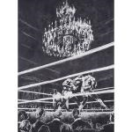 vinny pazienza and dan sherry boxing match at the ritz carlton (pair) by leroy neiman