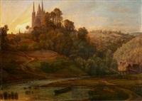 blick auf den dom von limburg by peter becker
