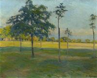 paysage avec arbres by edouard elzingre