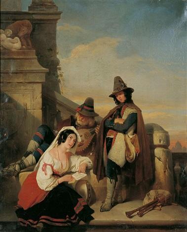 römische strassenmusikanten by nicaise de keyser