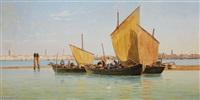 the canale dell giudecca in venice by salomon corrodi