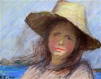 portrait of the artist's daughter by sir george clausen