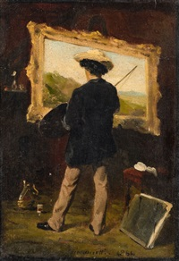 the artist in his studio by attilio simonetti