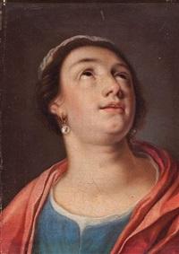 busto de una joven by cornelis cornelisz van haarlem
