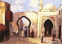 orientalische genreszene by abdulla hassan al arab