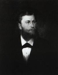 portrait eines eleganten jungen mannes mit brille und bart by rudolf wimmer