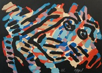 colourful figure by karel appel