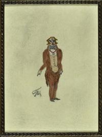 blonder herr im braunen anzug by vladimir tatlin