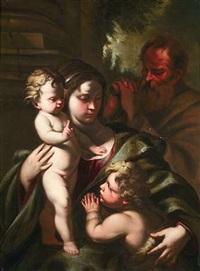 die heilige familie mit dem johannesknaben by nicola vaccaro