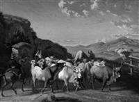 hirten mit kuherde in der römischen campagna by charles coumont