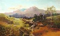 kuperet flodlandskab (skotland?) by c. austin