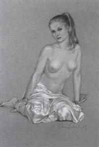 sitzender weiblicher akt by victoria fontaine-wolf