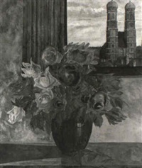 rosen in einer vase by franz roth