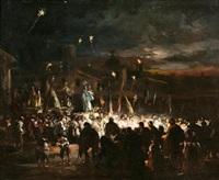 procesión nocturna by eugenio lucas velázquez