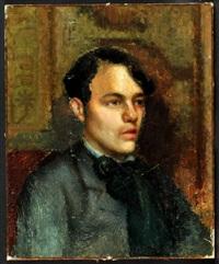 portrait eines jungen herrn im dreiviertel-profil by gustave courbet