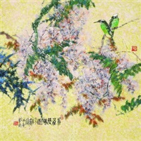 birds and flowers by wang liming