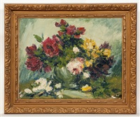still life with roses by marcel dyf