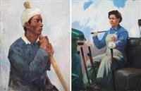 黄河船工 第一个推土手 (2 works) by ai zhongxin
