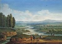 flusslandschaft mit anglern by jan-peter van bredael the younger