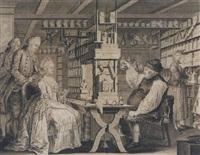 la pharmacie rustique ou représentation exacte de l'intérieur de la chambre où michel schuppach tient ses consultations by gottfried locher