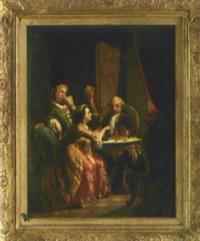 herzogin anna amalia beim schachspiel by jacob emanuel