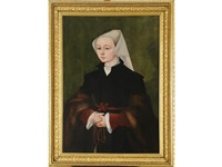 portrait of a lady, probably elizabeth hope by jan van scorel
