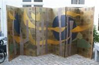composition - folding screen by sofu teshigahara