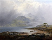 a misty day, the silver strand, loch katrine by george blackie sticks