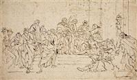 petrus und johannes heilen einen gelähmten am tempel by santo piatti