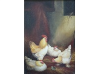 poultry in a barn by a. jackson