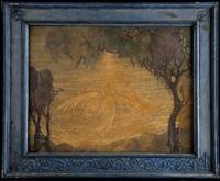 cygne sur un étang by gennaro favai