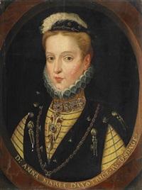 bildnis der anna von österreich und spanien (1549-1580) by frans pourbus (-unattributable)