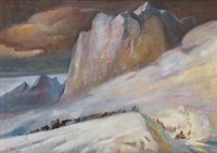 过雪山 by ai zhongxin