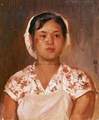 纺织女工 (textile worker) by qin xuanfu