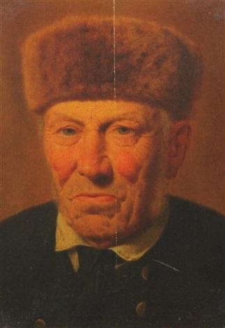 portrait of ausgefuhrher kogl by <b>albert becker</b> - albert-becker-portrait-of-ausgefuhrher-kogl
