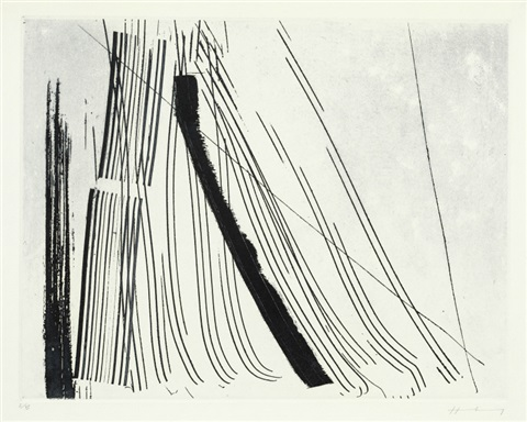 work sold with 192bc set of 3 by hans hartung