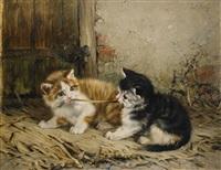 lekande kattungar by julius adam the younger
