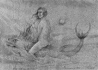 venus reitet auf dem fisch. hommage à dürer by werner holz