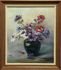 stilleben mit sommerblumen in einer vase by heinrich heidner