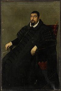 portrait of a sitting man by jacopo robusti tintoretto