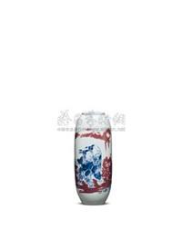 "青花釉里红""婴戏""瓶 (porcelain vase) by rao xiaoqing"