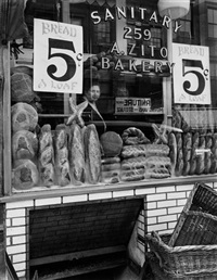 bread store, 259 bleecker street, manhattan by berenice abbott