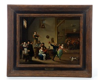 tavern scene with merrymaking by david teniers the younger