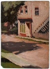 street in shade by edward hopper