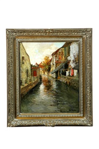 canal scene by frits thaulow