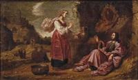 christus und die samariterin by rombout van troyen