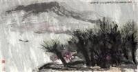 柳外群山细雨中 (rain scenes) by cui ruzhuo